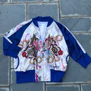 Coogi Satin Embroidered Jacket Large